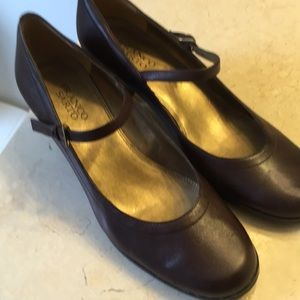 Franco Sarto brown leather shoes worn once
